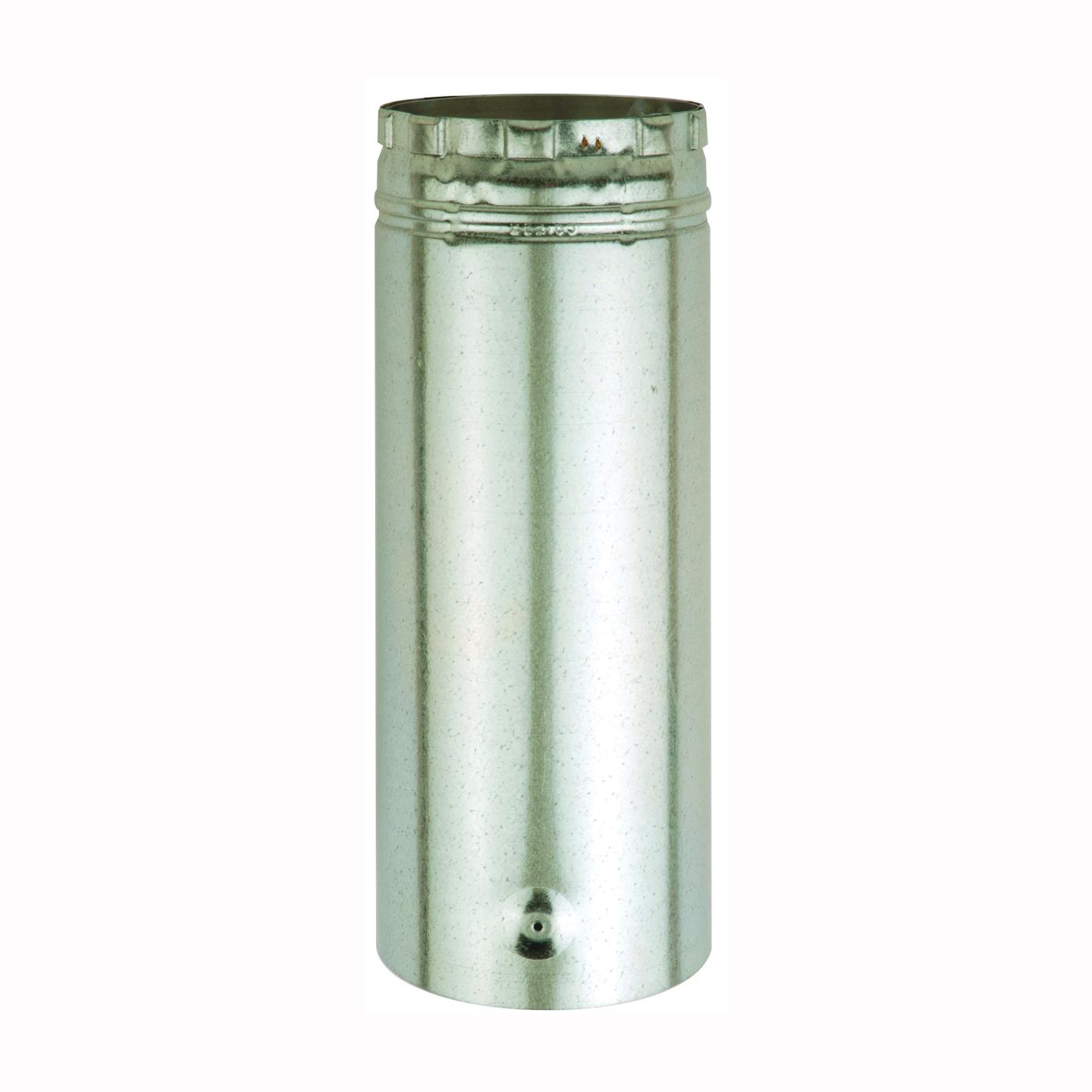 Picture of AmeriVent 5E12A Type B Gas Vent Pipe, 5 in OD, 12 in L, Galvanized Steel