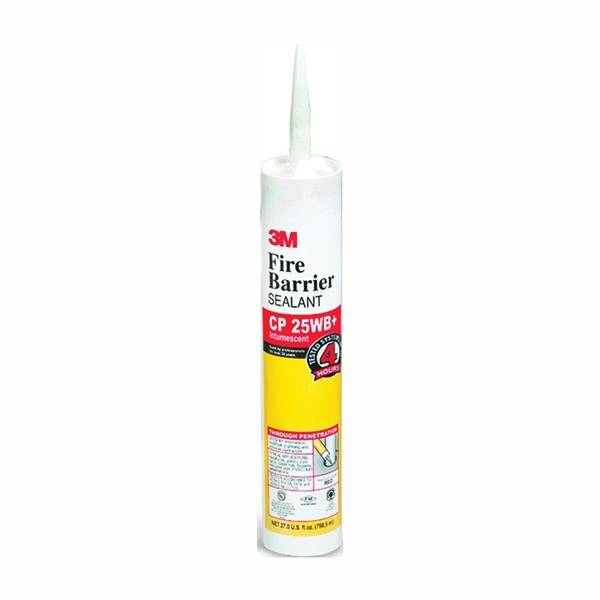 Picture of 3M CP-25WB+27OZ Fire Barrier Sealant, Red, 40 to 122 deg F, 27 oz Package, Cartridge