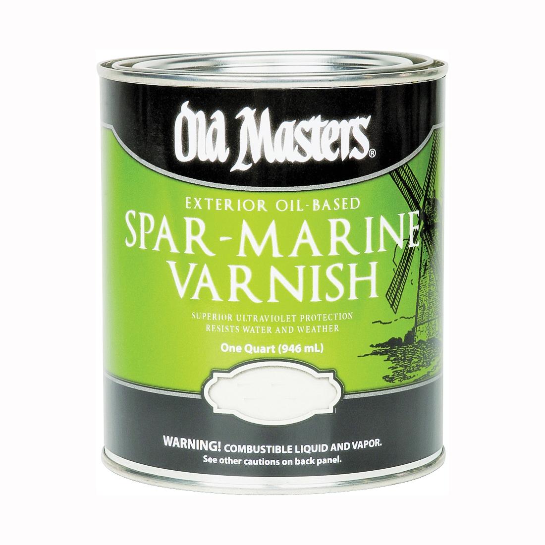 Picture of Old Masters 92504 Spar Marine Varnish, Semi-Gloss, Liquid, 4 qt, Can