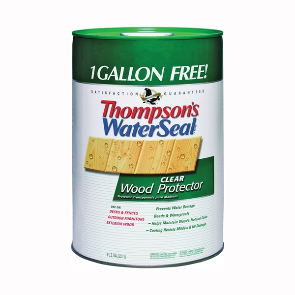 Picture of Thompson's WaterSeal TH.021806-06 Wood Protector, Clear, Liquid, 6 gal