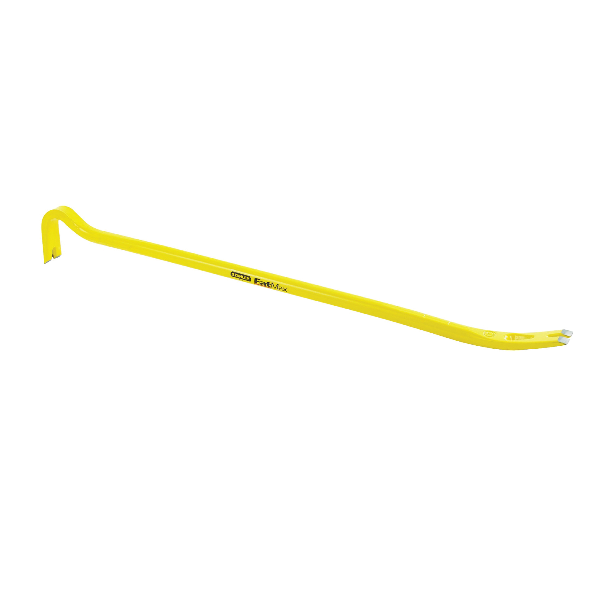 Picture of STANLEY 55-104 Wrecking Bar, 36 in L, Beveled/Slotted Tip, 2 in Claw Blade Width 1, 1-3/4 in Claw Blade Width 2 Tip