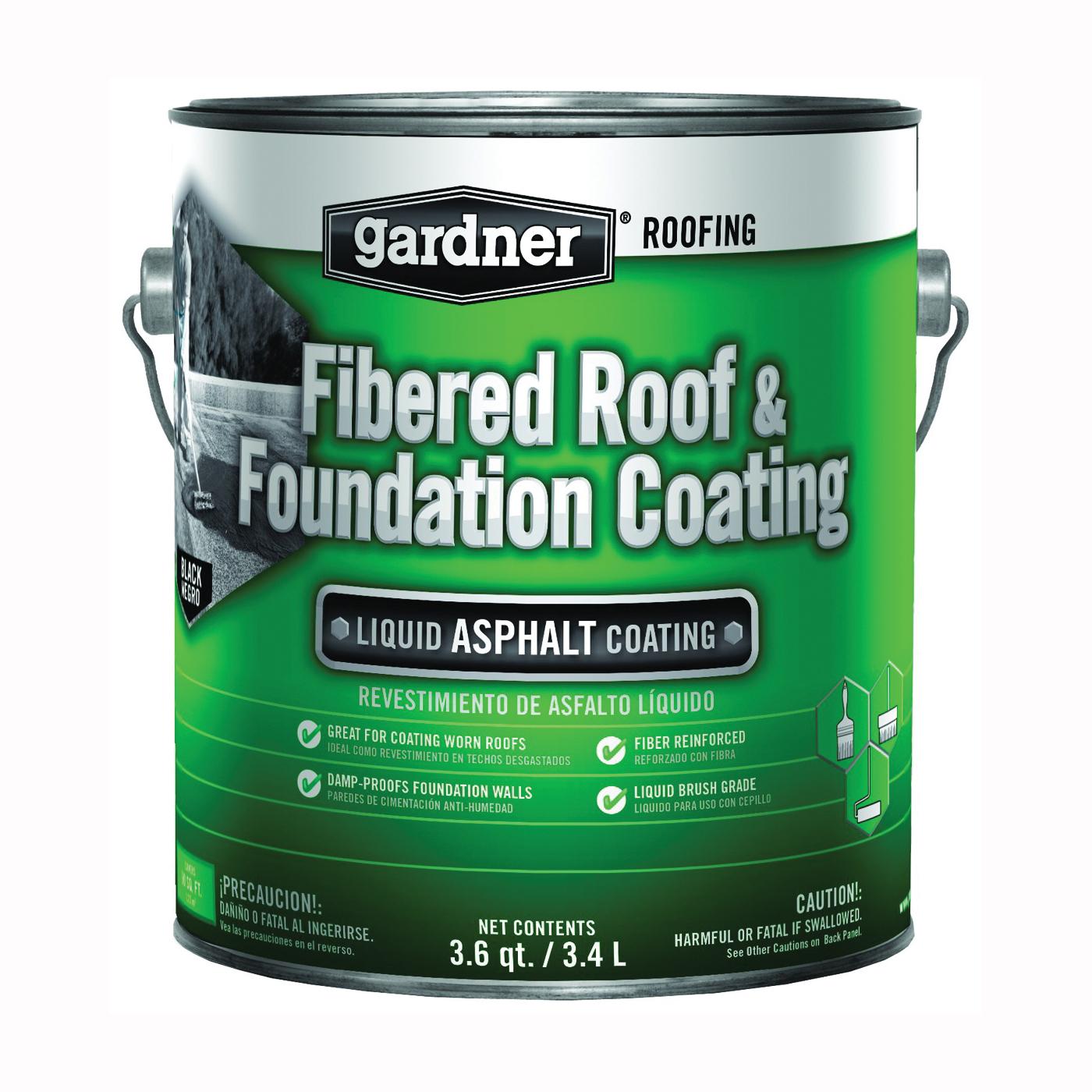 Picture of Gardner 0101-GA Roof Coating, Black, 3.4 L, Liquid