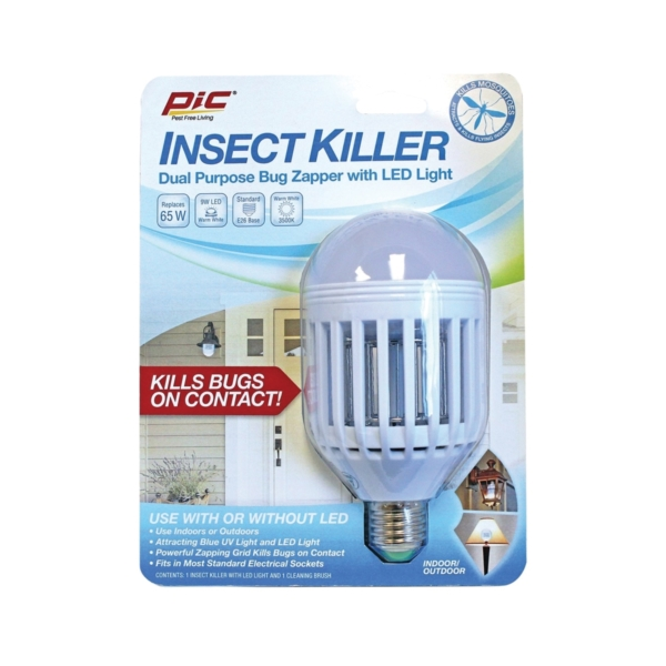 Picture of Pic IKC Insect Killer Bulb, 120 V, 65 W, LED Lamp, Ivory