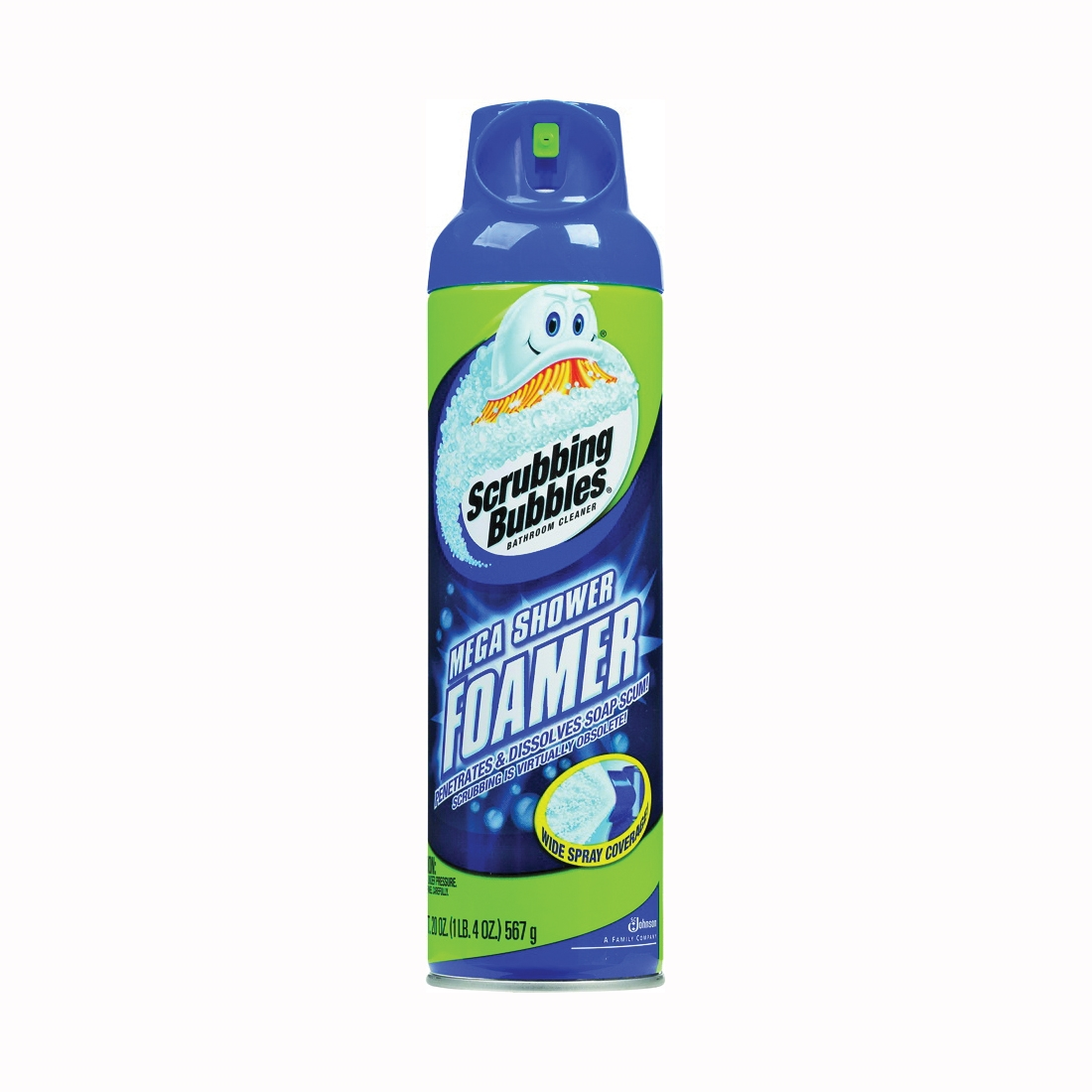 Picture of Scrubbing Bubbles 70589 Shower Cleaner, 20 oz Package, Spray Can, Marine, Ozone, Light Yellow/Transparent