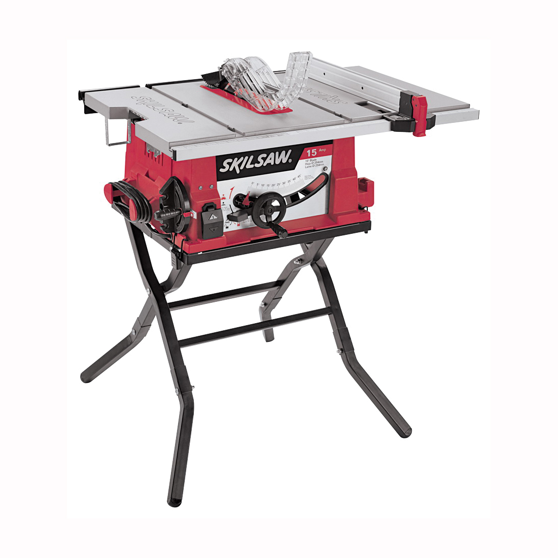 Picture of SKILSAW 3410-02 Table Saw with Folding Stand, 120 V, 13 A, 1800 W, 10 in Dia Blade, 5/8 in Arbor, 5000 rpm Speed