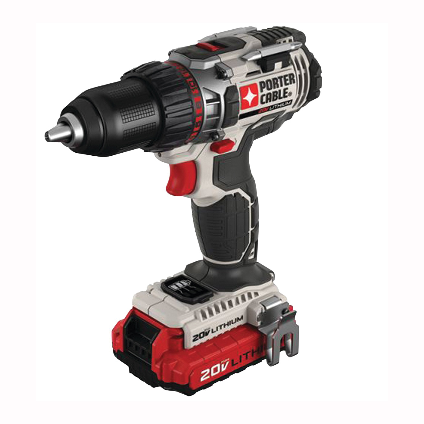 Picture of PORTER-CABLE PCC606LA Drill/Driver Kit, Kit, 20 V Battery, 1/2 in Chuck, Keyless Chuck, Battery Included: Yes