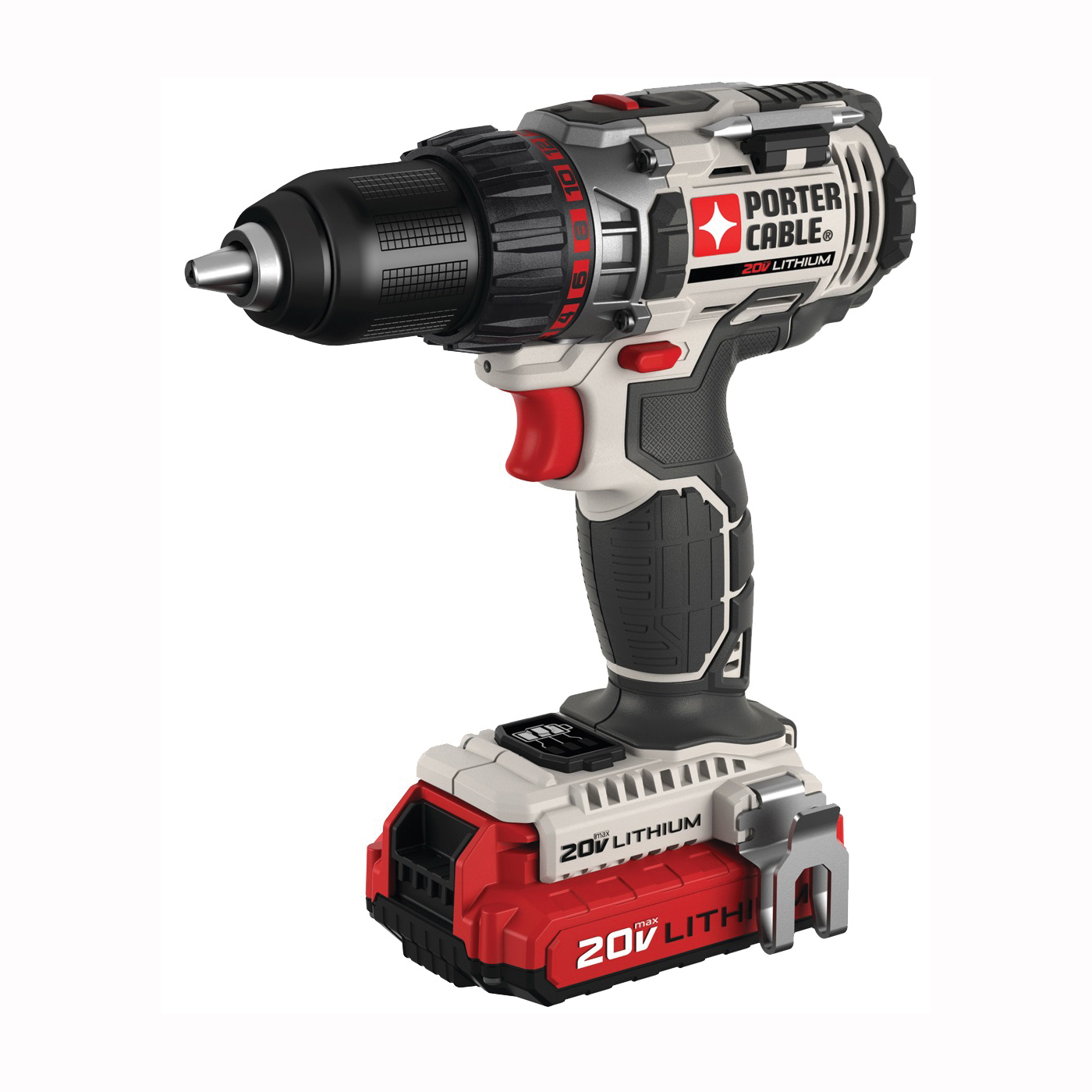 Picture of PORTER-CABLE PCCK600LB Drill/Driver Kit, Kit, 20 V Battery, 1/2 in Chuck, Keyless Chuck, Battery Included: Yes