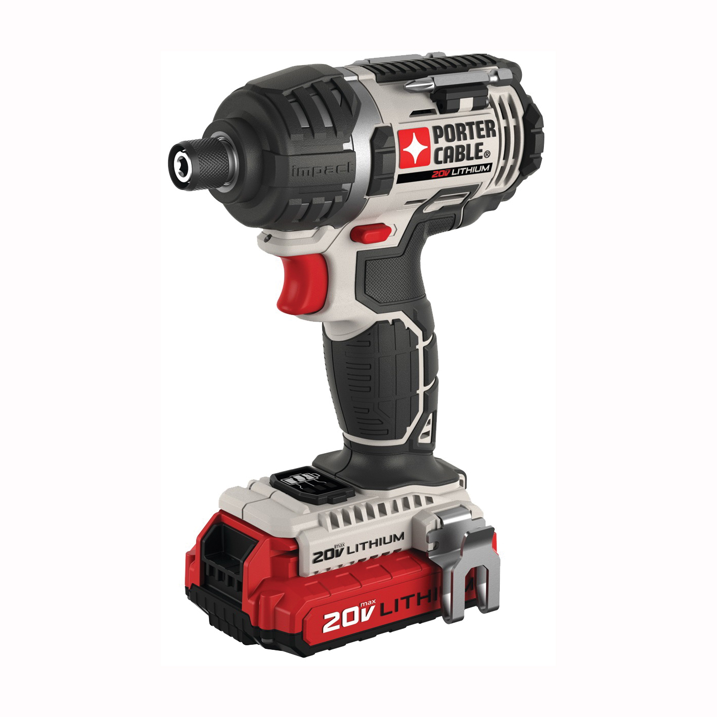 Picture of PORTER-CABLE PCCK640LB Impact Driver Kit, Kit, 20 V Battery, 1.5 Ah, 1/4 in Drive, Hex Drive, 3100 ipm IPM