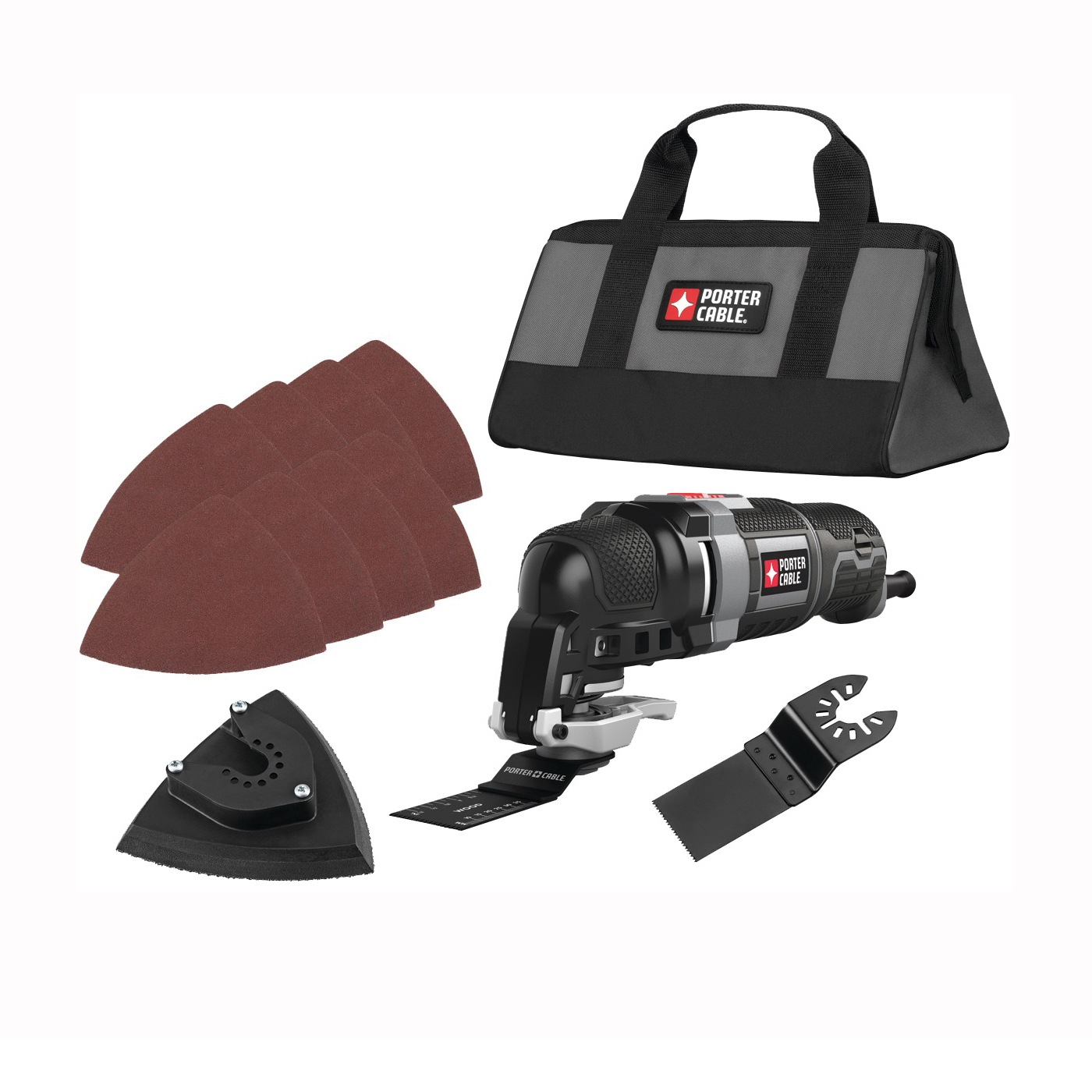 Picture of PORTER-CABLE PCE606K Oscillating Multi-Tool Kit, 3 A, 10,000 to 22,000 opm OPM, 2.8 deg Oscillating