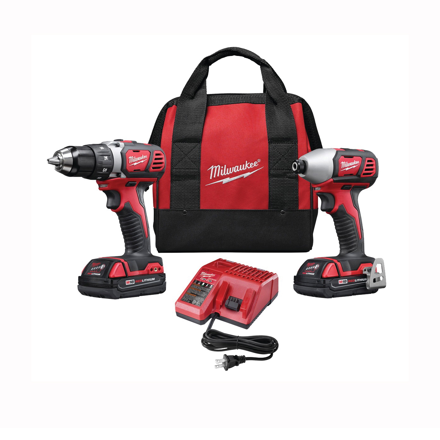 Picture of Milwaukee 2691-22 Two-Tool Combo Kit, Battery Included: Yes