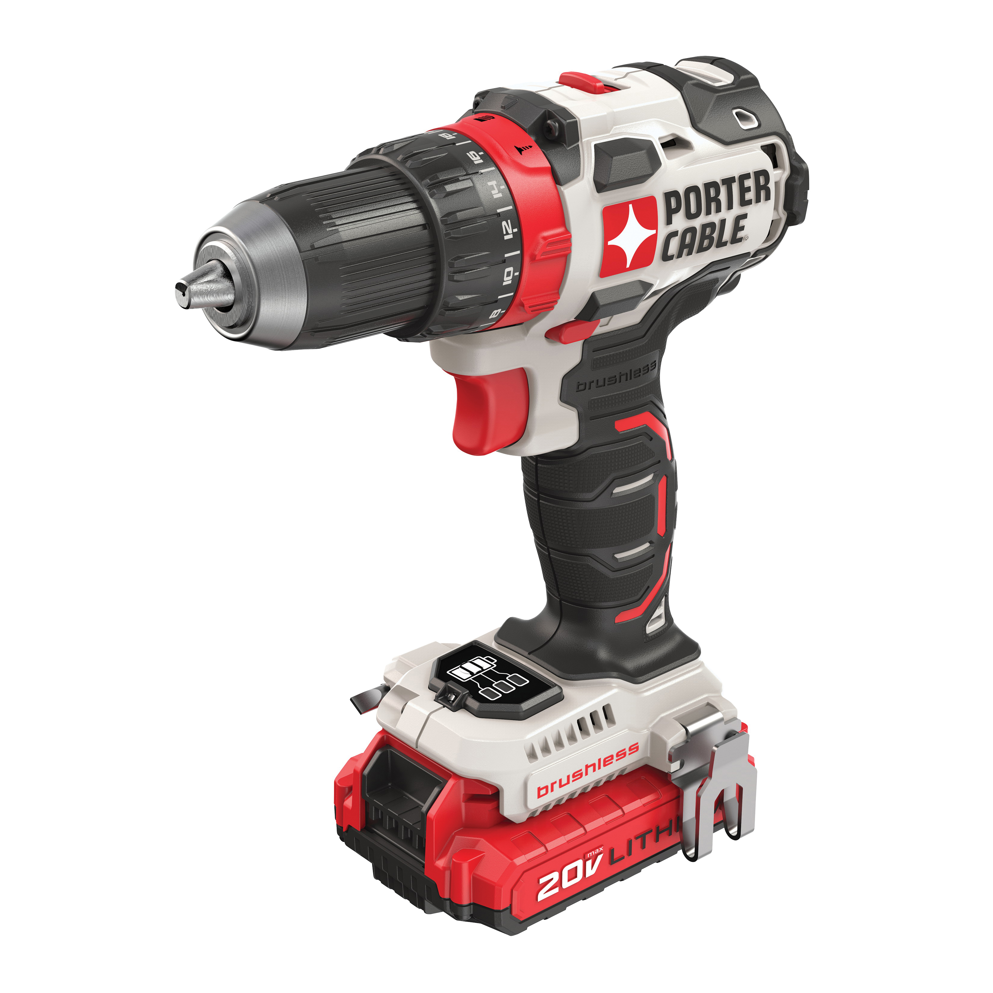 Picture of PORTER-CABLE PCCK607LB Drill/Driver Kit, Kit, 20 V Battery, 1/2 in Chuck, Ratcheting Chuck, Battery Included: Yes