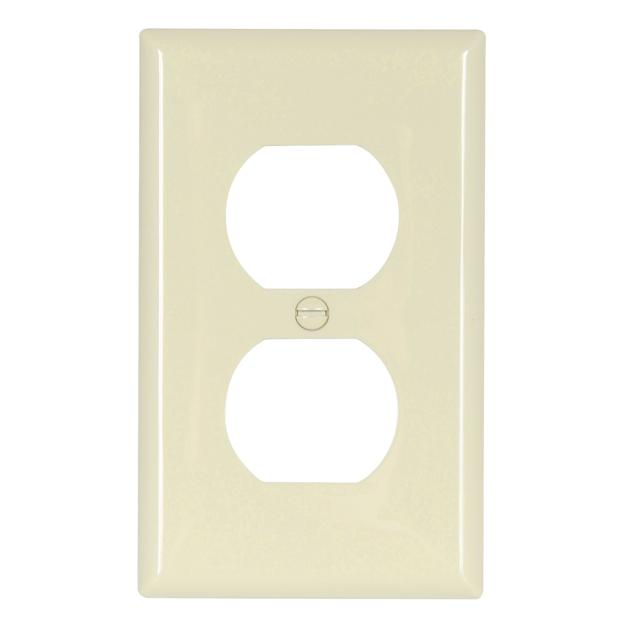 Picture of Eaton Wiring Devices 5132LA Duplex Receptacle Wallplate, 4-1/2 in L, 2-3/4 in W, 1-Gang, Nylon, Light Almond