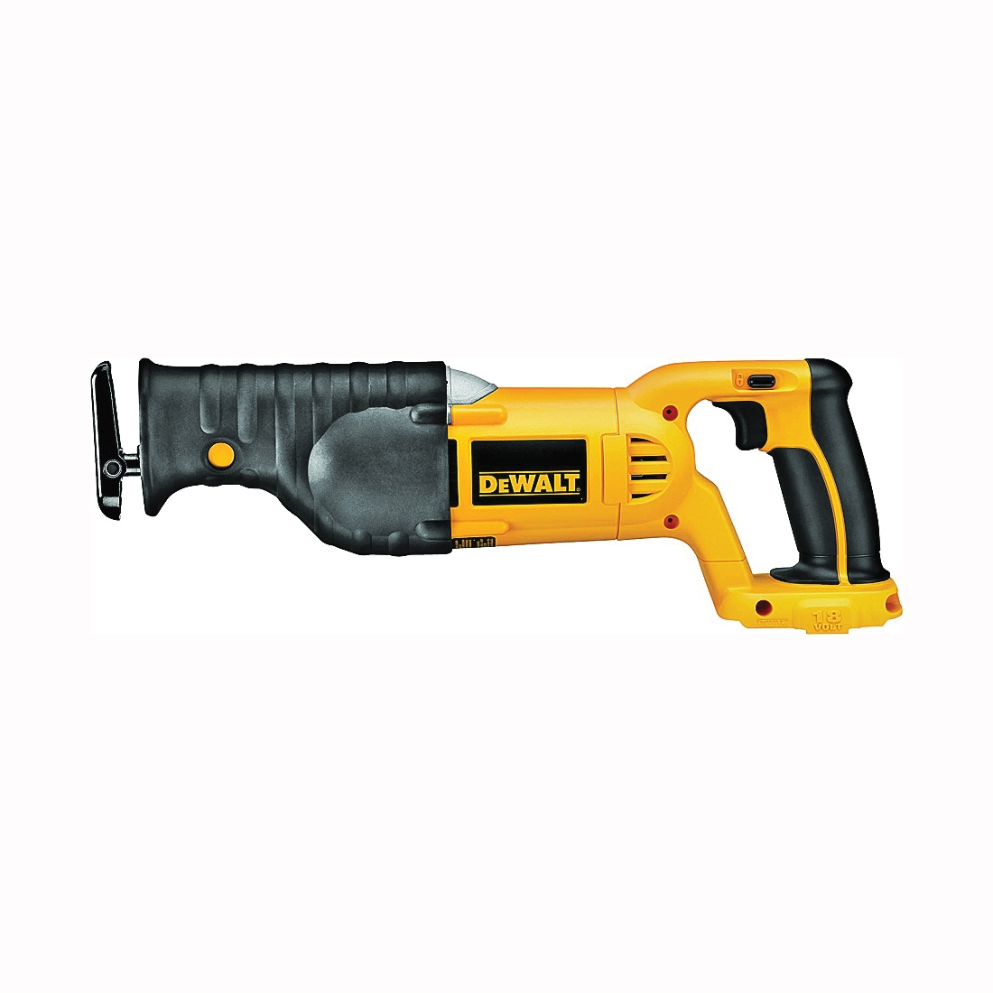 Picture of DeWALT DC385B Reciprocating Saw, Bare Tool, 18 V Battery, 2.4 Ah, 1-1/8 in L Stroke, 0 to 3000 SPM