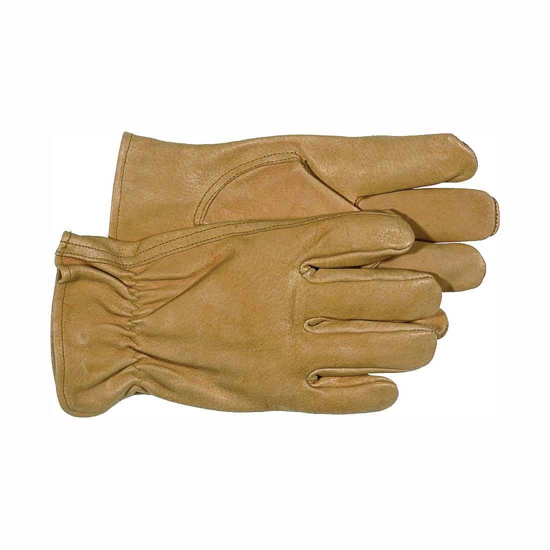 Picture of BOSS 4052L Driver Gloves, Women's, L, Keystone Thumb, Open, Shirred Elastic Back Cuff, Pigskin Leather, Tan