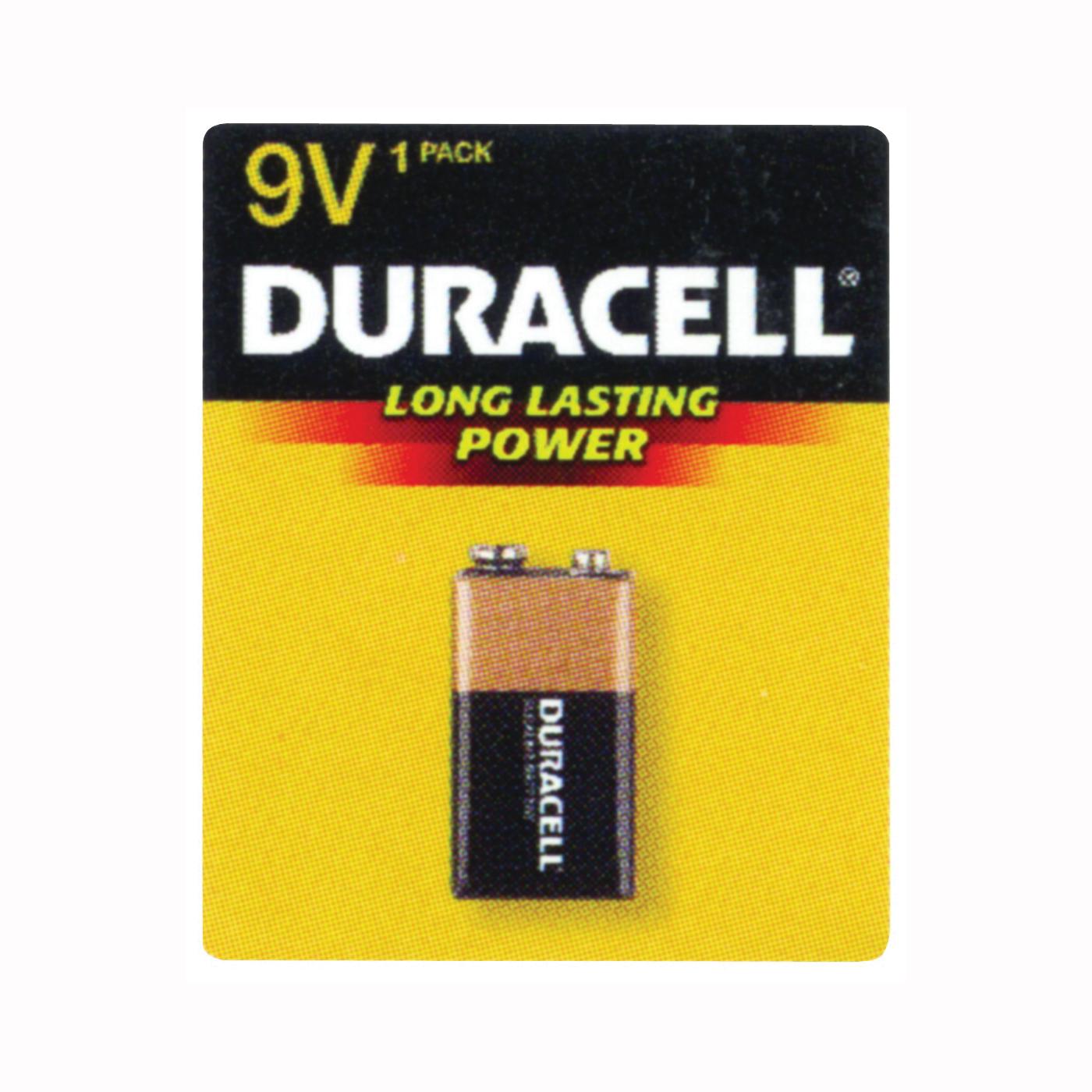 Picture of DURACELL MN1604B1Z Alkaline Battery, 9 V Battery, 9 V Battery, Manganese Dioxide, 1/PK