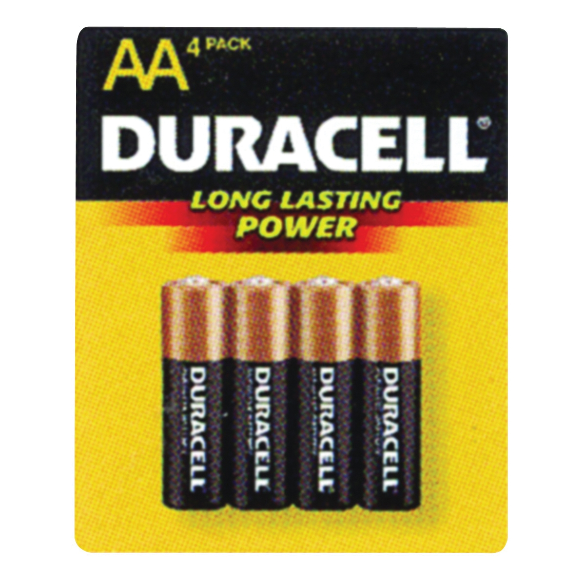 Picture of DURACELL COPPERTOP MN1500 Series MN1500B4Z Alkaline Battery, 1.5 V Battery, AA Battery, Manganese Dioxide
