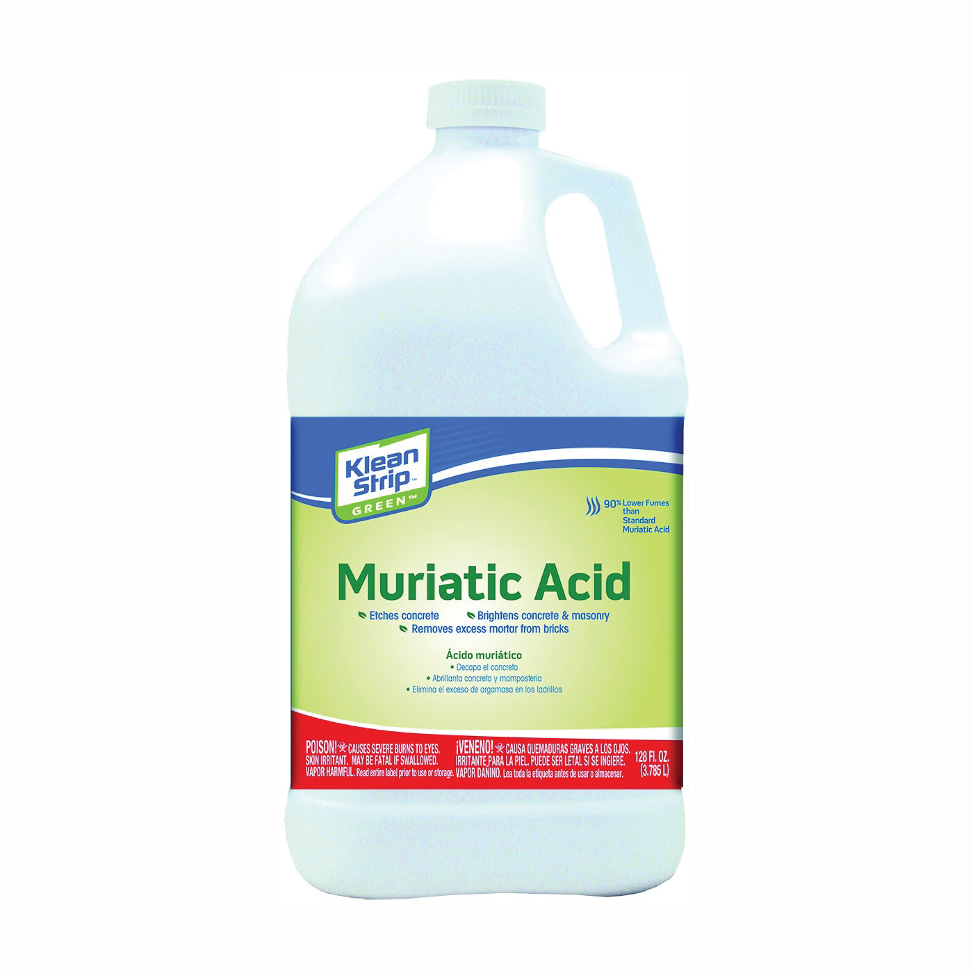 Picture of Klean Strip GKGM75006 Safer Muriatic Acid, Liquid, Slight Pungent, Pungent, 1 gal, Can