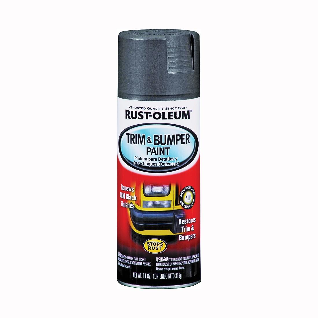 Picture of RUST-OLEUM AUTOMOTIVE 251574 Trim and Bumper Spray Paint, Matte, Black, 11 oz, Aerosol Can