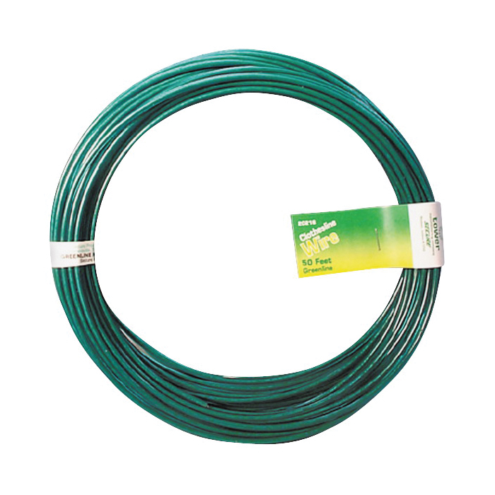 Picture of MIDWEST FASTENER 11268 Solid Wire Clothesline, 50 ft L, Steel, Green