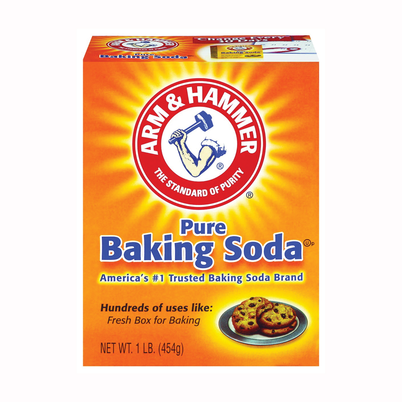 Picture of ARM & HAMMER 01110 Baking Soda, 1 lb Package, Box