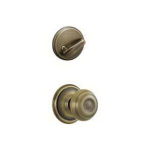 Picture of Schlage F Series F59GEO609 Knob Interior Pack, Antique Brass, 1-5/8 to 2 in Thick Door