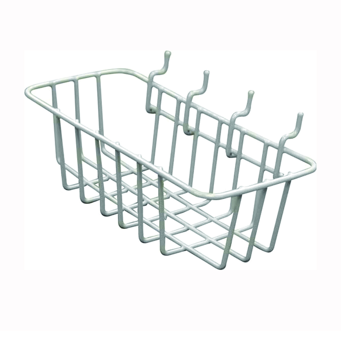 Picture of CRAWFORD WB85 Wire Basket, 5 lb Working Load, Vinyl, Silver