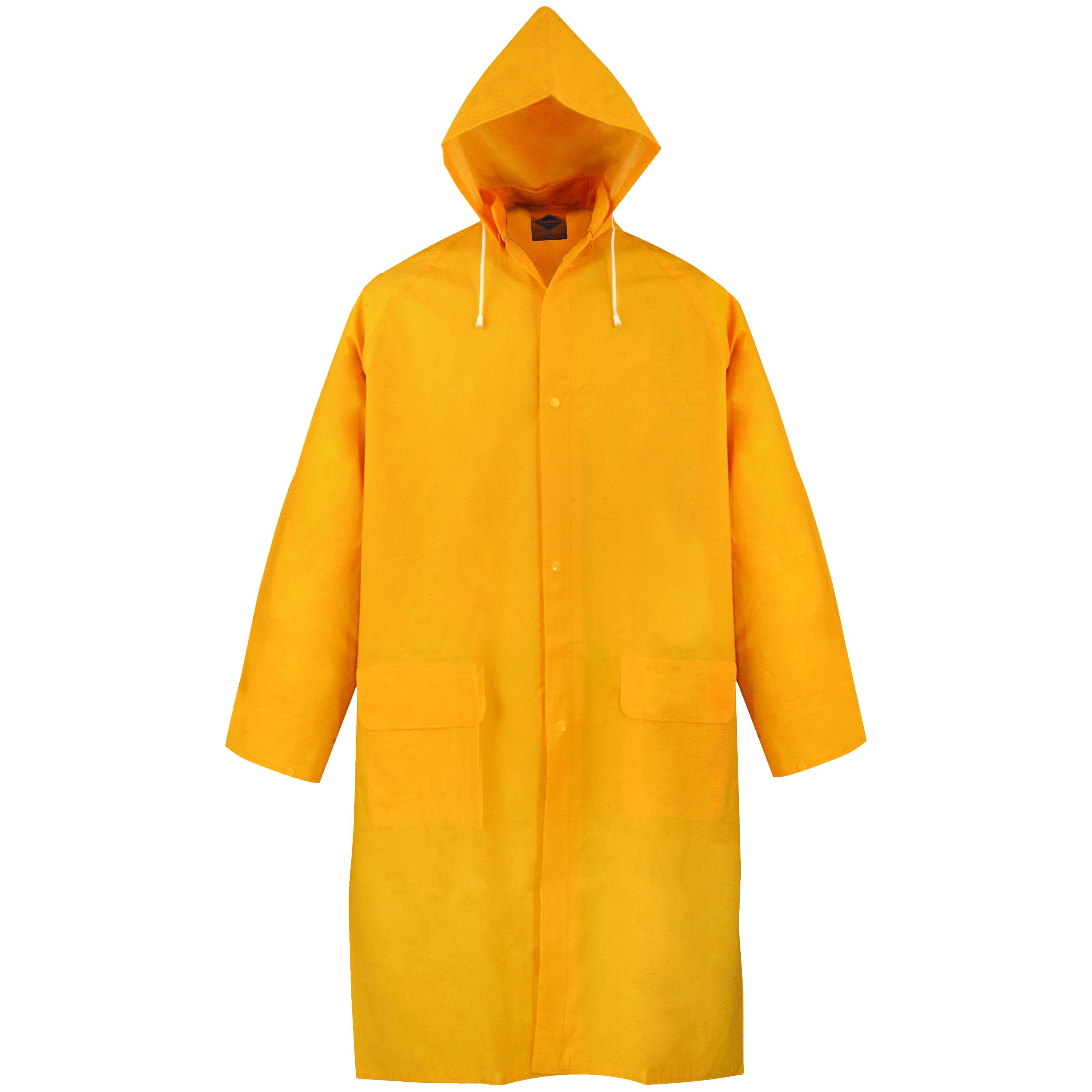 Picture of Diamondback PY-800XL Raincoat, XL, Polyester/PVC, Yellow, Removable Collar
