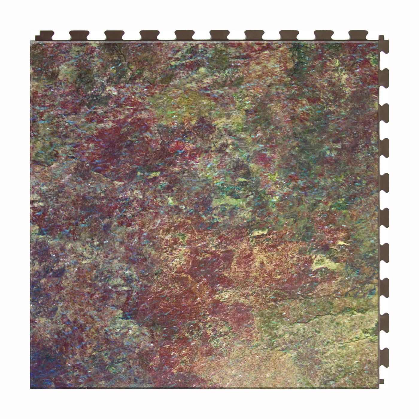 Picture of PERFECTION FLOOR TILE ITNS570SS50 Floor Tile, 20 in L Tile, 20 in W Tile, Granite Pattern, Sedona Slate
