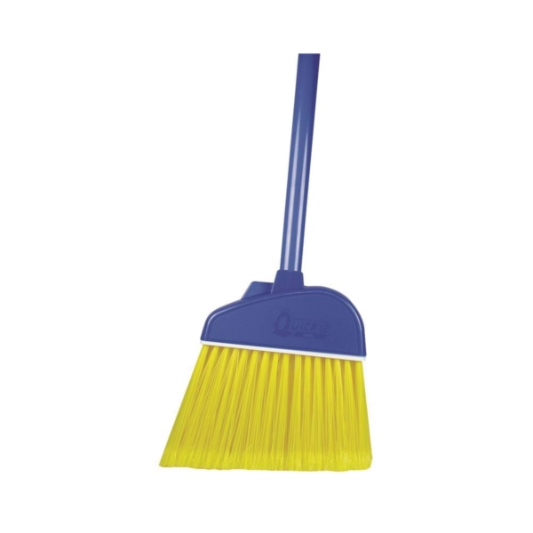 Picture of Quickie 700TRI Kitchen Broom, 10 in Sweep Face, Polypropylene Bristle, Steel Handle