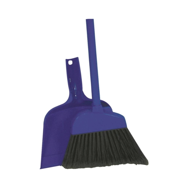 Picture of Quickie 700-409TRI Angle Broom, 10 in Sweep Face, Polypropylene Bristle, Steel Handle