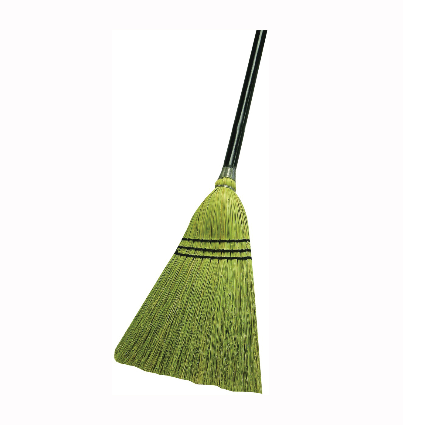 Picture of Quickie 934 Lobby Broom, 10 in Sweep Face, Natural Fiber Bristle, Metal Handle