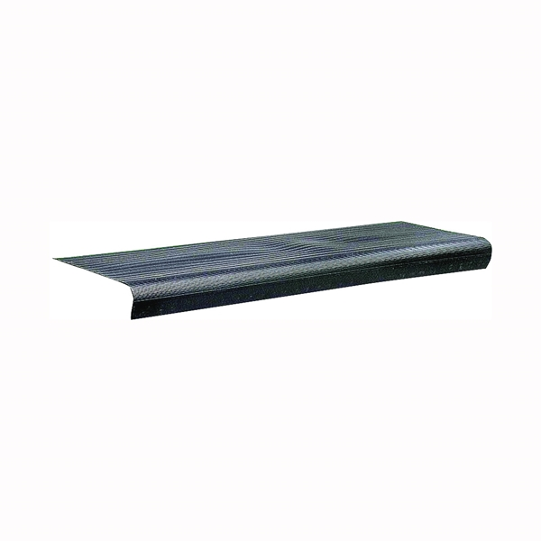 Picture of M-D 75556 Stair Tread, 24 in L, 9-1/8 in W, 0.08 in Thick, Vinyl, Black