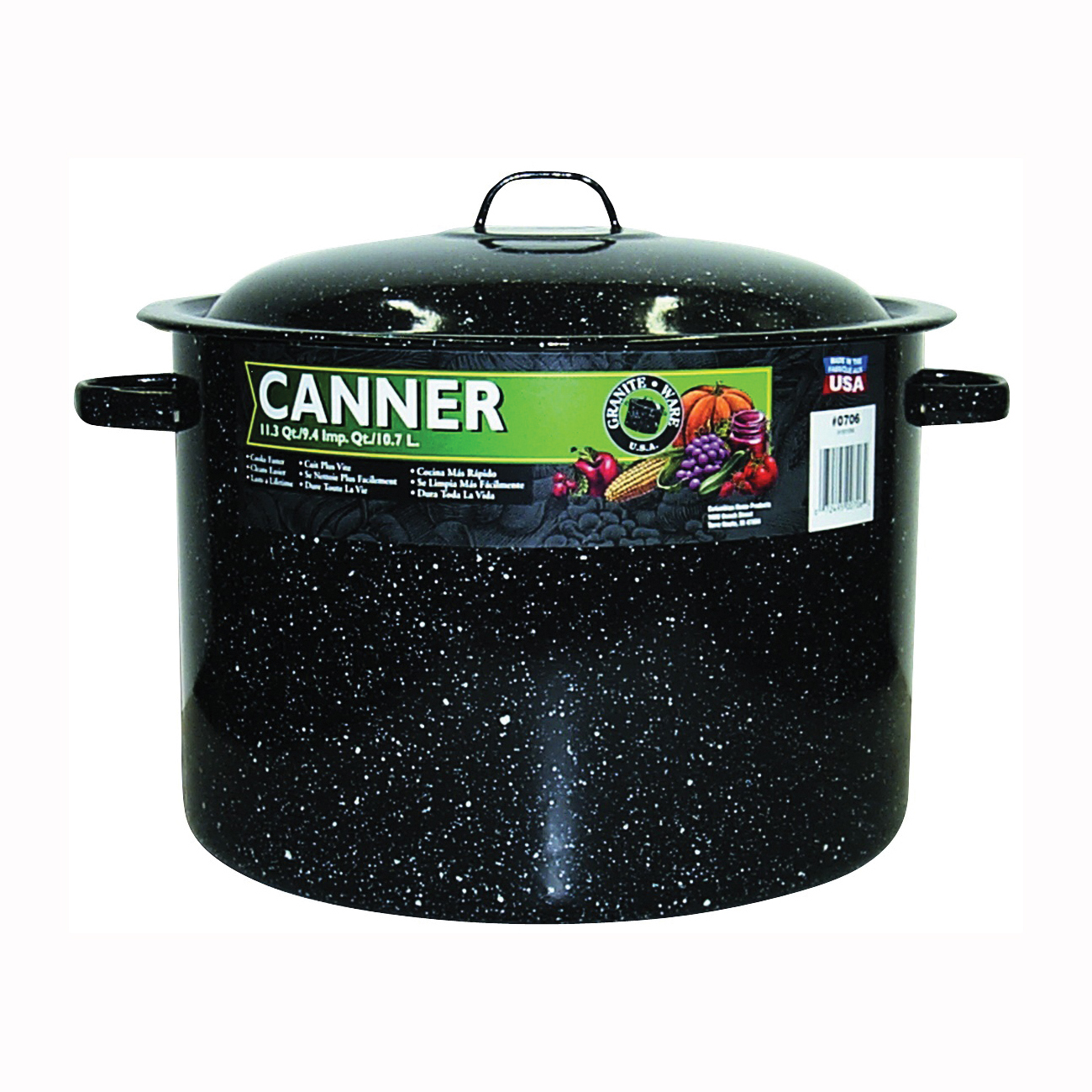 Picture of Granite Ware F0706-6 Mini Canner, 12 qt Capacity, Steel, Porcelain Enamel-Coated