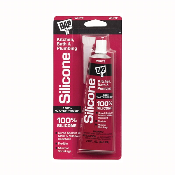 Picture of DAP 7079800750 Sealant, White, 2.8 fl-oz Package, Squeeze Tube