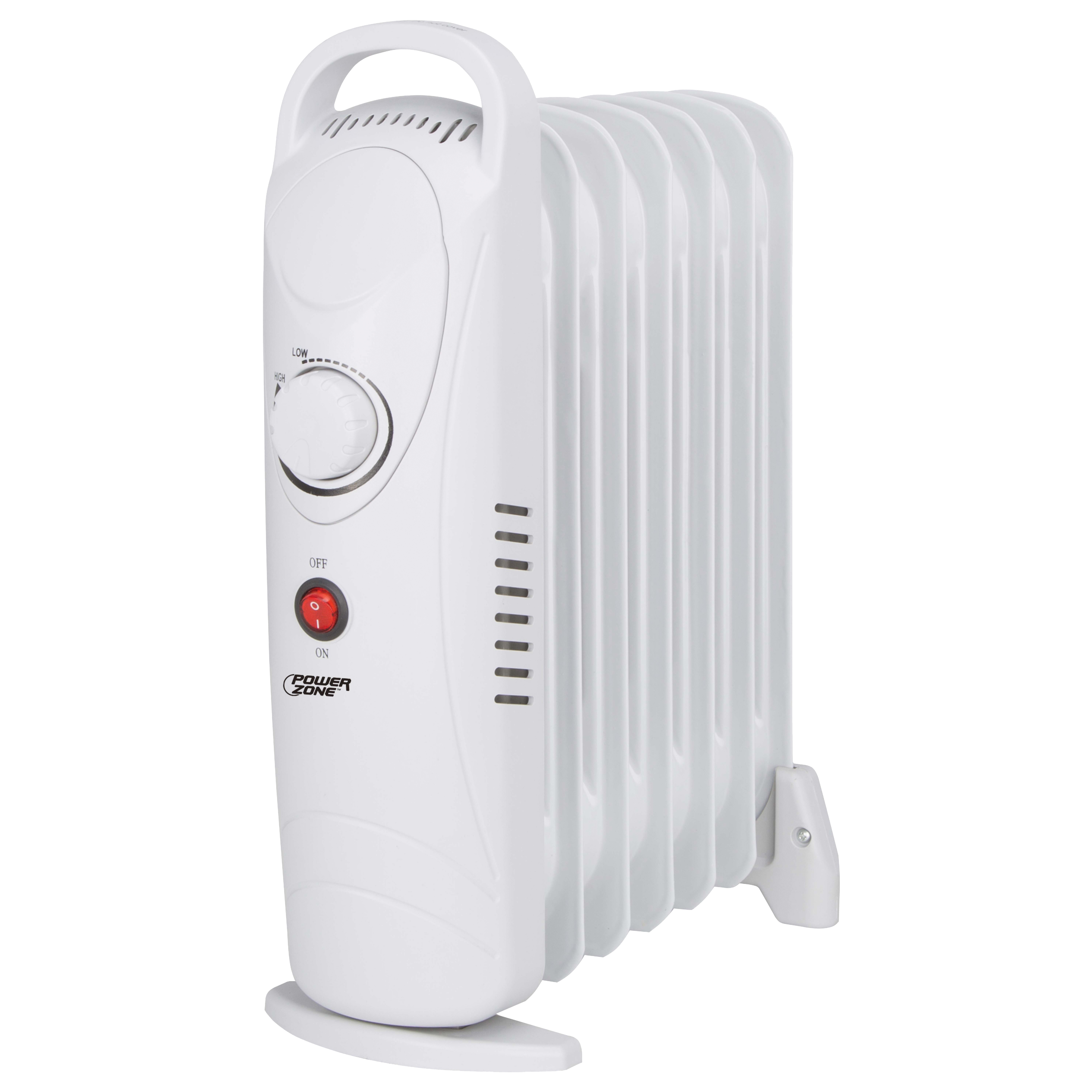 Picture of PowerZone DF-600H3-7 Mini Oil Filled Heater 700W White, 5.8 A, 120 V, 700 W, 700 W Heating, 1-Heating Stage