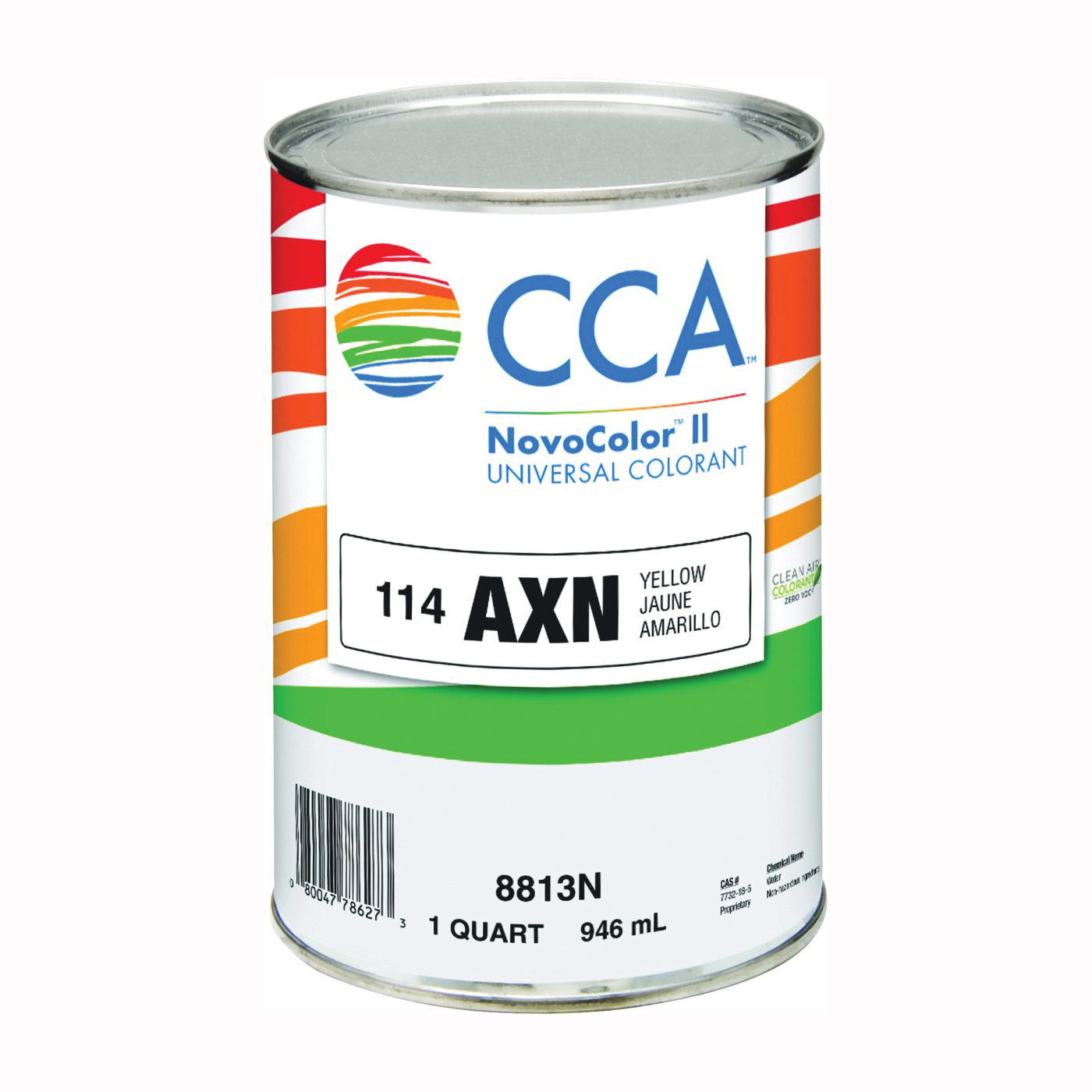 Picture of CCA NovoColor II 8813N Universal Colorant, Yellow, Liquid, 1 qt Package