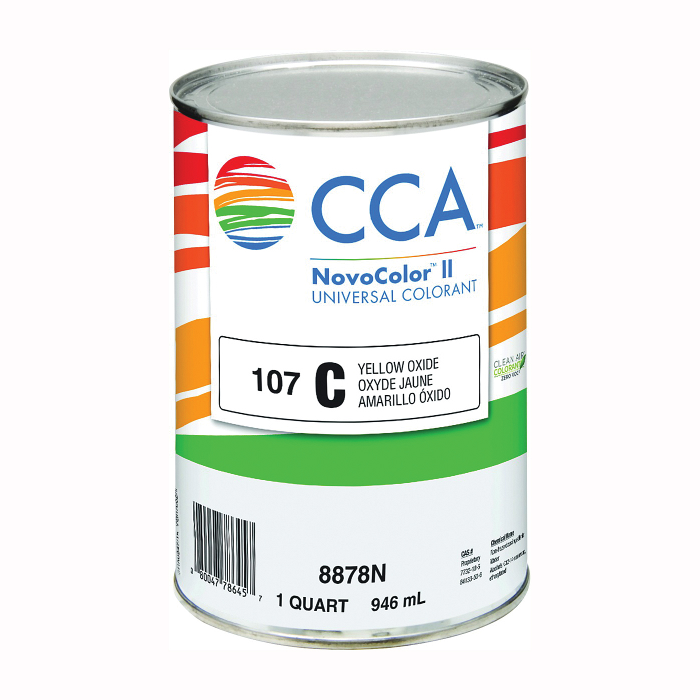 Picture of CCA NovoColor II 8878N Universal Colorant, Yellow Oxide, Liquid, 1 qt Package