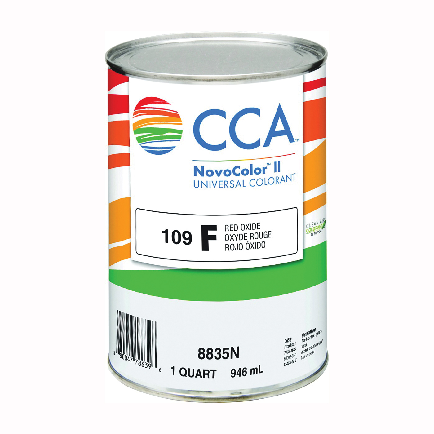 Picture of CCA NovoColor II 8835N Universal Colorant, Red Oxide, Liquid, 1 qt Package