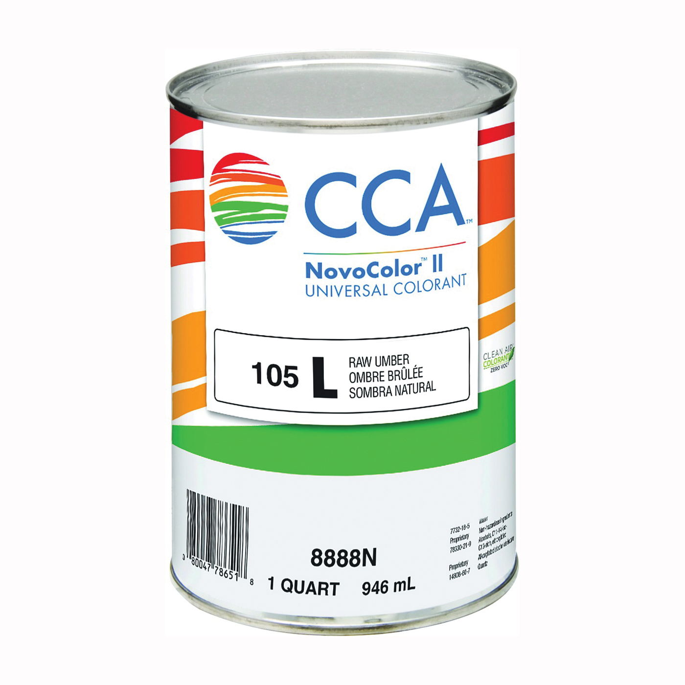 Picture of CCA NovoColor II 8888N Universal Colorant, Raw Umber, Liquid, 1 qt Package