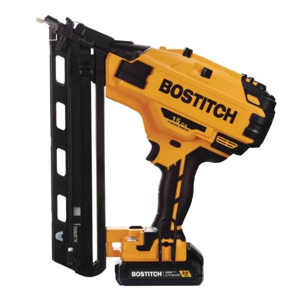 Picture of Bostitch BCN650D1 Cordless Finish Nailer Kit, Kit, 20 V Battery, 2 Ah, 100 Magazine, 15 ga Nail