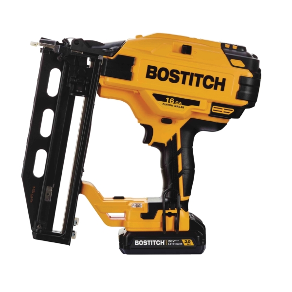 Picture of Bostitch BCN662D1 Cordless Finish Nailer Kit, Kit, 20 V Battery, 2 Ah, 100 Magazine, 16 ga Nail