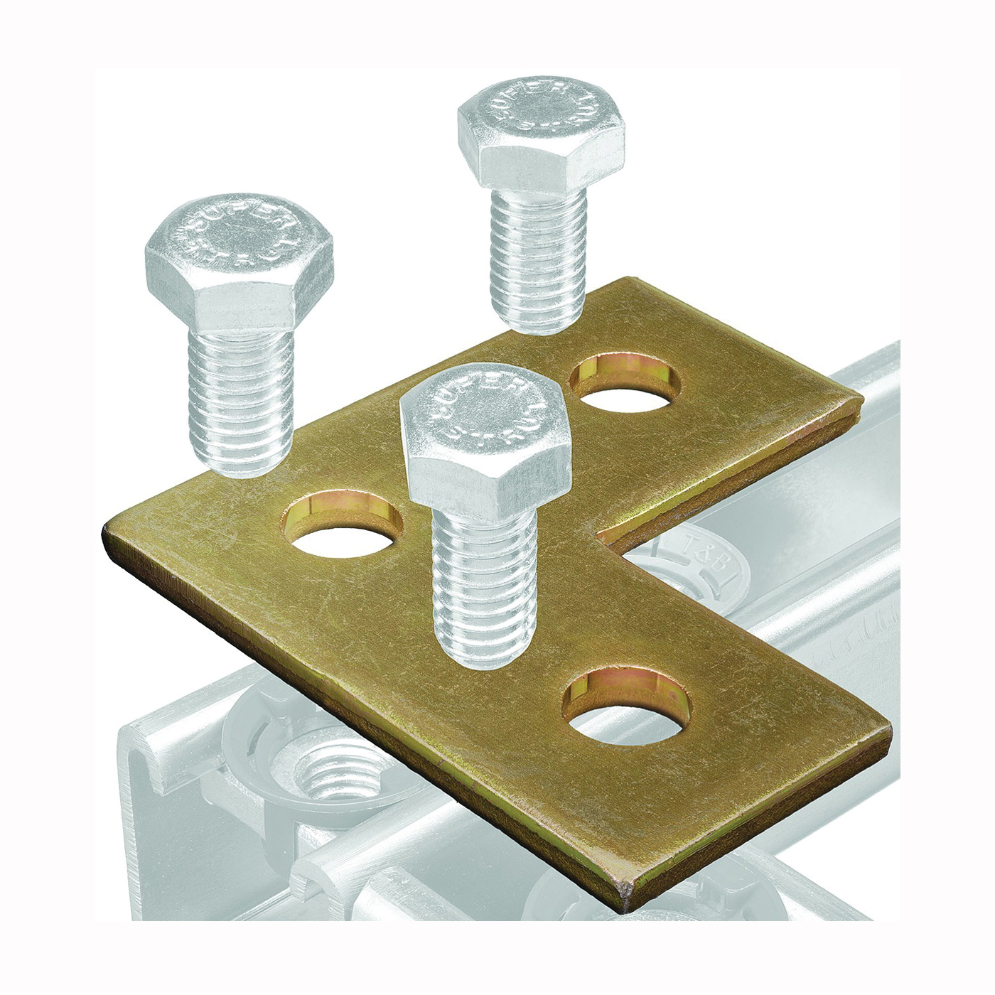 Picture of SuperStrut 200 Series ZAB219-10 Right Angle Corner Bracket, Steel, Gold, Galvanized
