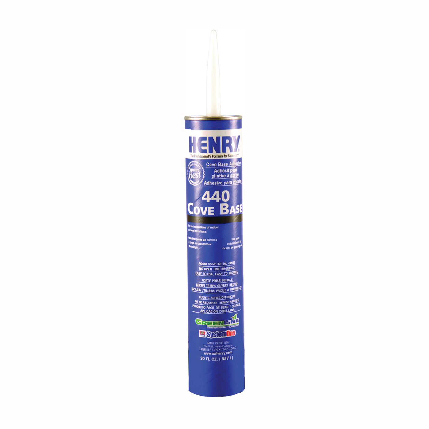 Picture of HENRY 12107 Adhesive, Beige, 30 oz Package, Cartridge