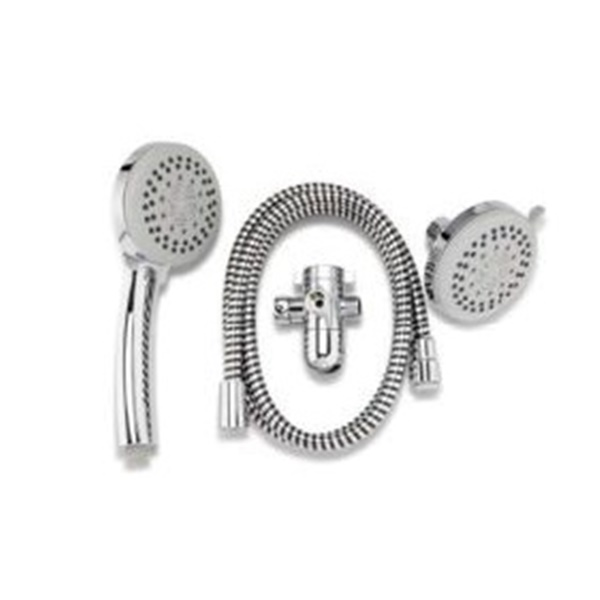 Picture of Plumb Pak K751CP Shower Head Kit, 1.8 gpm, 5-Spray Function, Polished Chrome, 60 in L Hose