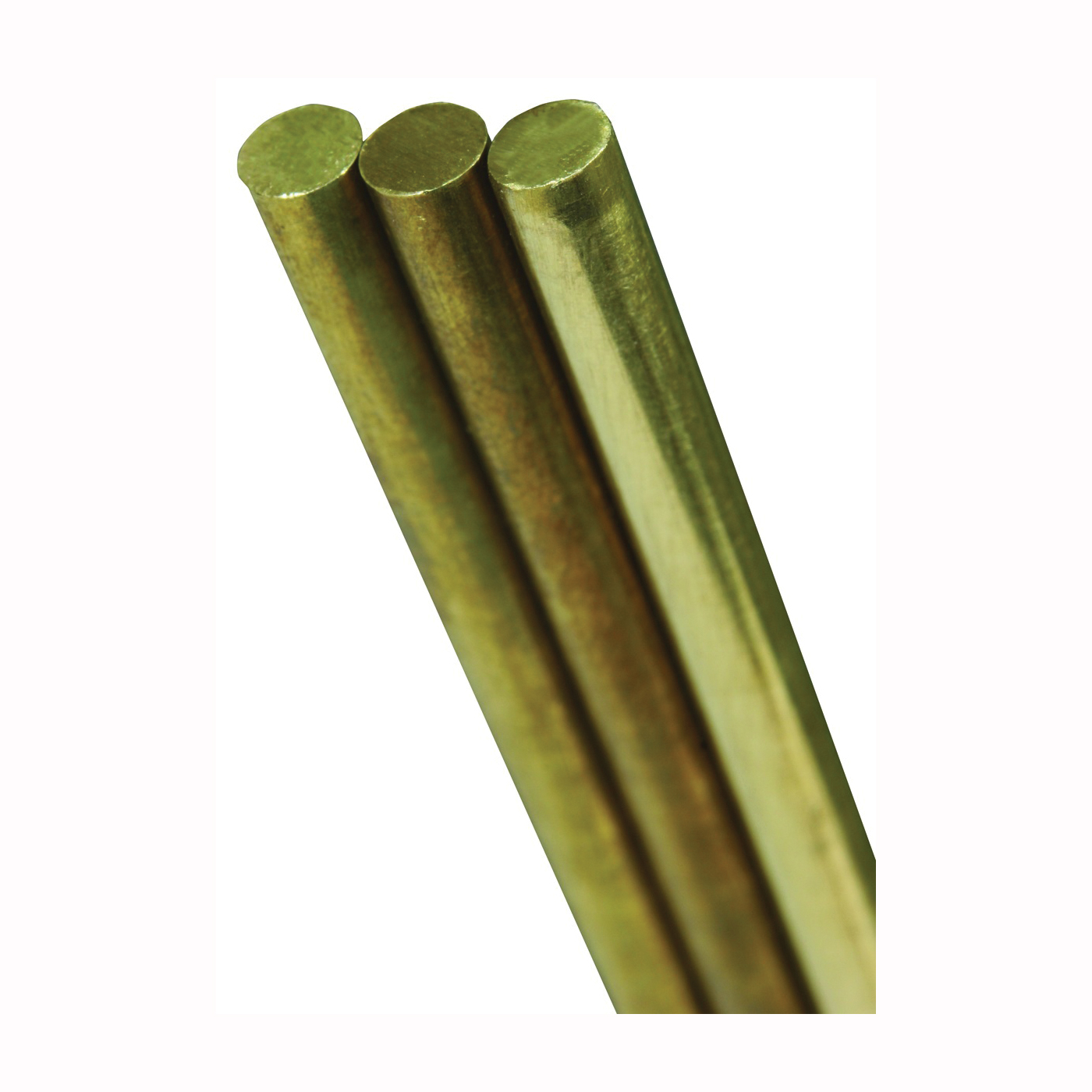Picture of K & S 8166 Round Rod, 3/16 in Dia, 12 in L, 260 Brass, 260 Grade