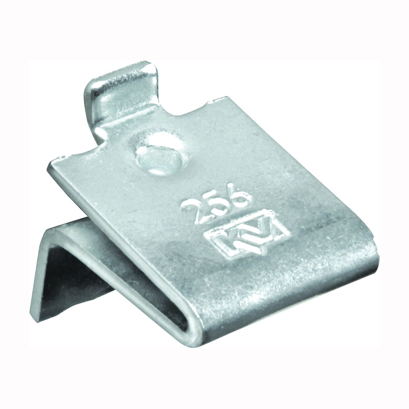 Picture of Knape & Vogt 256P ZC Pilaster Shelf Support Clip, Adjustable, Steel, 40, Mortise Mounting