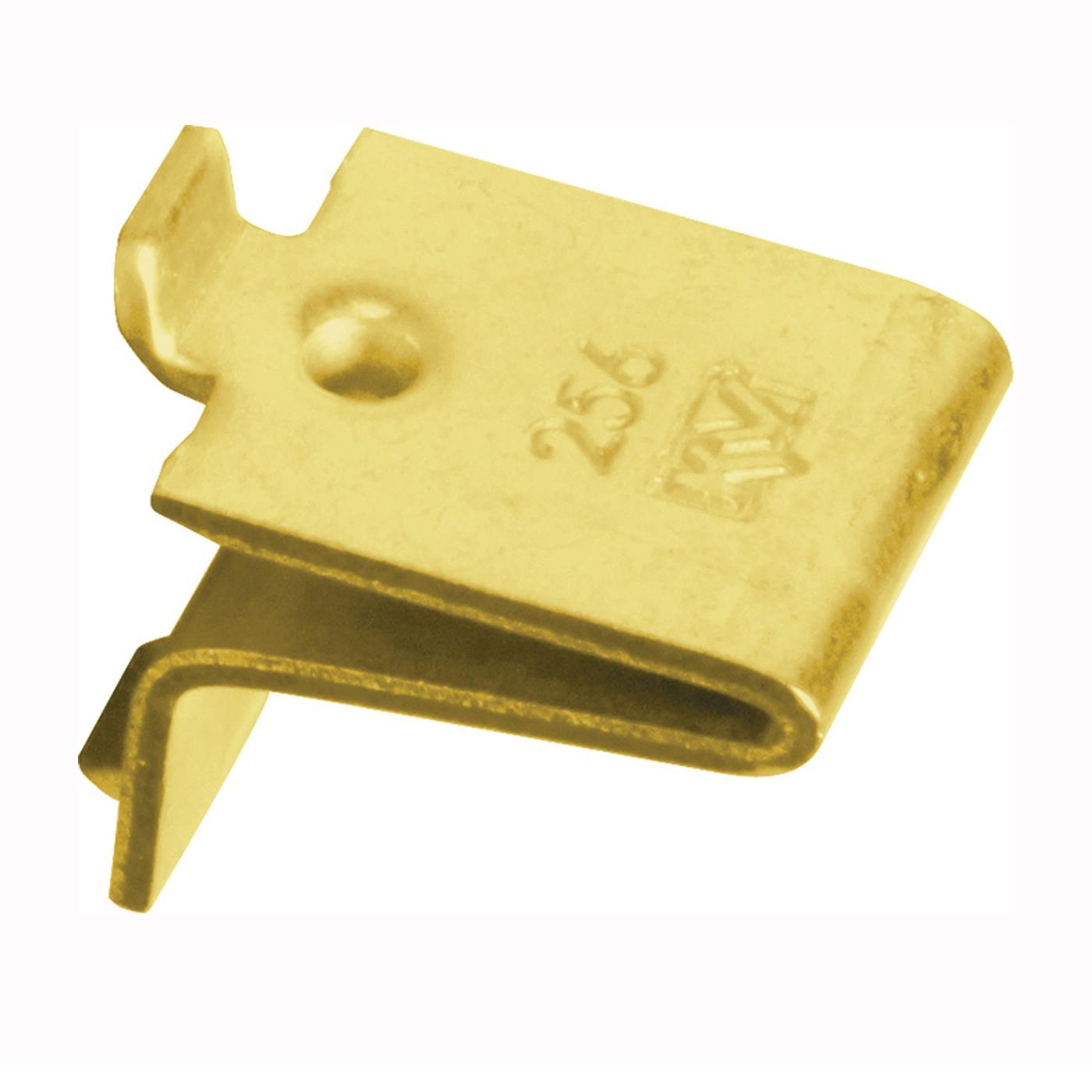 Picture of Knape & Vogt 256P BR Pilaster Shelf Support Clip, Adjustable, Steel, 40, Mortise Mounting