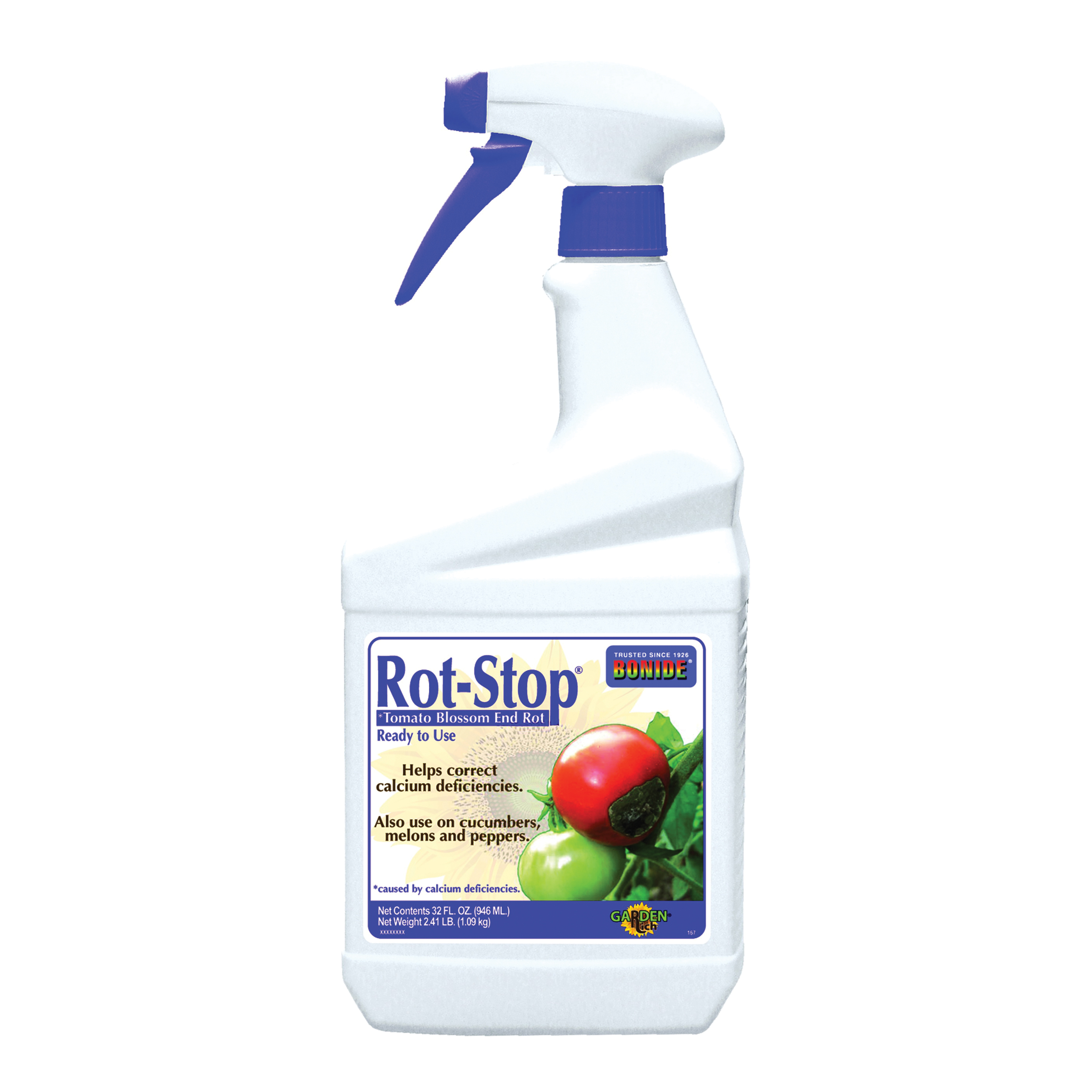 Picture of Bonide Rot-Stop 167 Tomato Blossom End Rot, Liquid, Minimal, if Any, White, 1 qt Package