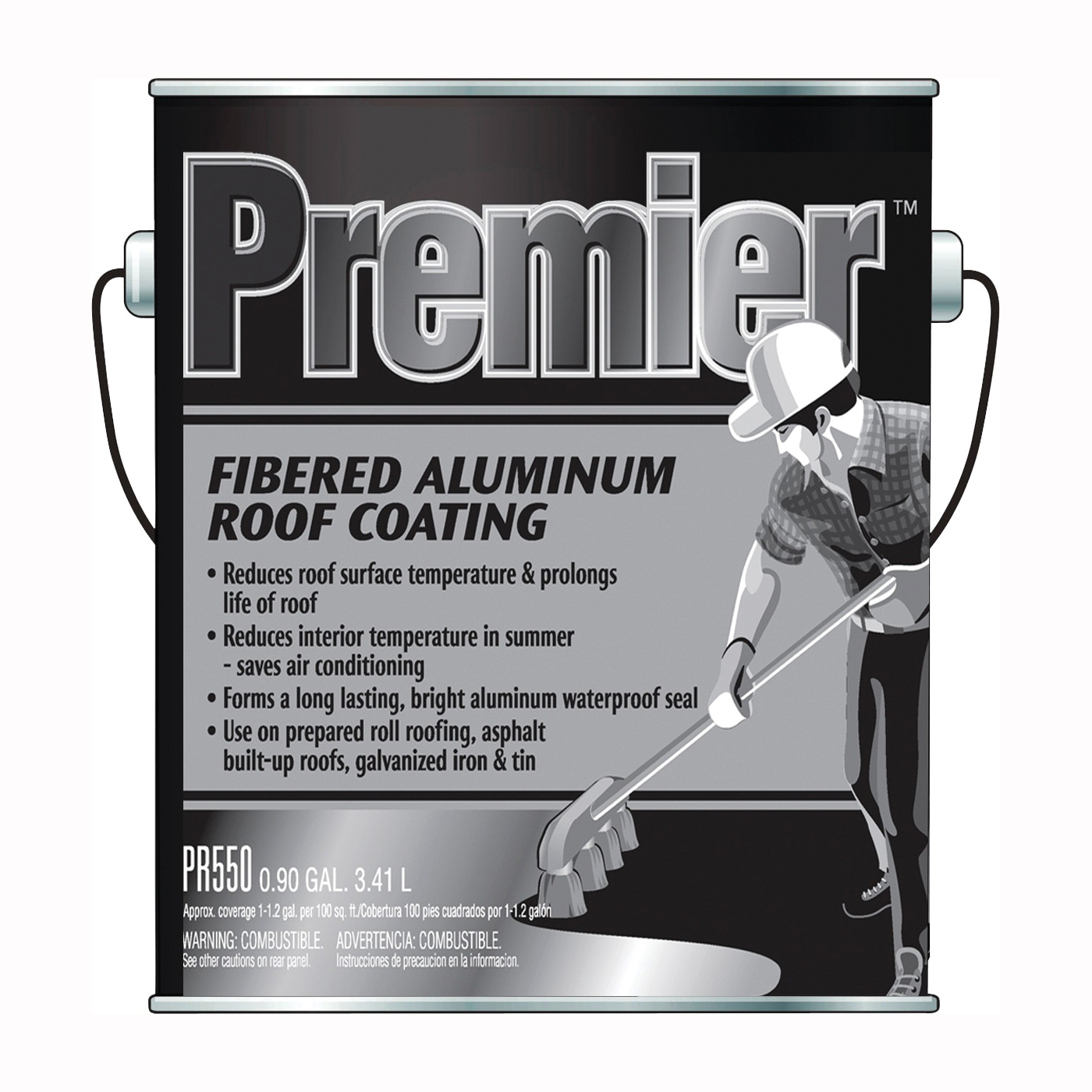 Picture of Henry PR550042 Aluminum Roof Coating, Silver, 3.41 L, Can, Liquid