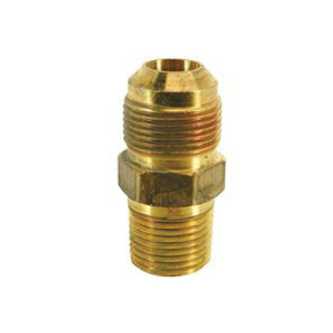 Picture of BrassCraft MAU2-10-12 Male Gas Adapter, 5/8 x 3/4 in, Flare x MIP, 2-1/16 in L